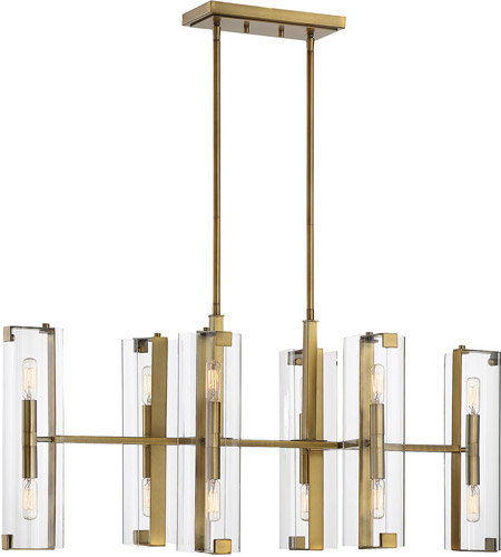Savoy House 1-9773-12-322 Winfield 12 Light 38 inch Warm Brass Trestle Ceiling Light photo