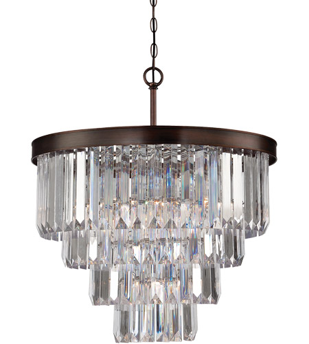 Savoy House Tierney 6 Light Chandelier in Burnished Bronze 1-9800-6-28