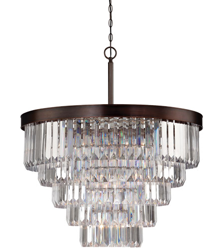 Savoy House Tierney 9 Light Chandelier in Burnished Bronze 1-9802-9-28