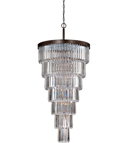 Savoy House 1-9803-19-28 Tierney 19 Light 33 inch Oiled Burnished Bronze Chandelier Ceiling Light photo