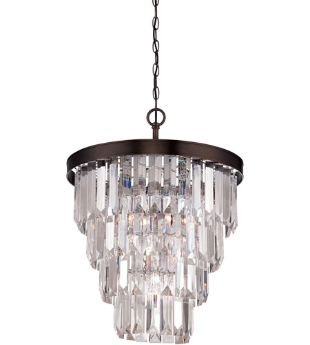 Savoy House Tierney 4 Light Chandelier in Burnished Bronze 1-9805-4-28 photo