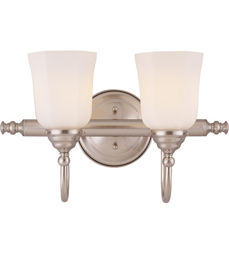 Savoy House 1062-2-SN Brunswick 2 Light 17 inch Satin Nickel Bath Bar Wall Light, Glass Sold Separately photo