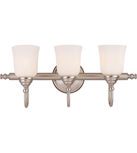 Savoy House 1062-3-SN Brunswick 3 Light 24 inch Satin Nickel Bath Bar Wall Light, Glass Sold Separately photo