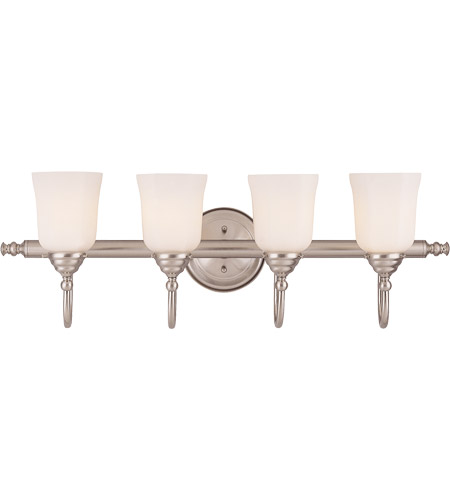 Savoy House 1062-4-SN Brunswick 4 Light 31 inch Satin Nickel Bath Bar Wall Light, Glass Sold Separately photo