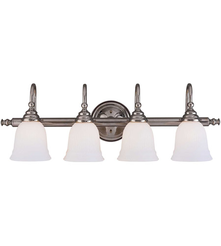 Savoy House 1062-4CH Brunswick 4 Light 31 inch Chrome Bath Bar Wall Light, Glass Sold Separately photo