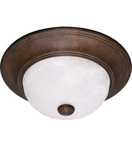 Savoy House 11264-BN Signature 2 Light 11 inch Brownstone Flush Mount Ceiling Light in Ribbed Marble photo