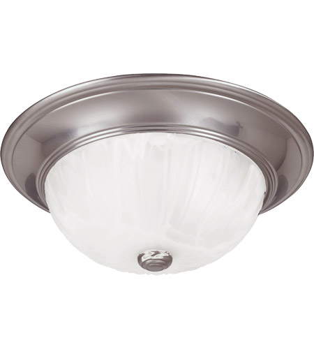 Savoy House 11264-SN Signature 2 Light 11 inch Satin Nickel Flush Mount Ceiling Light in Ribbed Marble photo