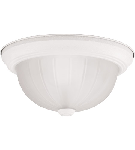 Savoy House Signature 2 Light Flush Mount in Textured White 1182-TWT