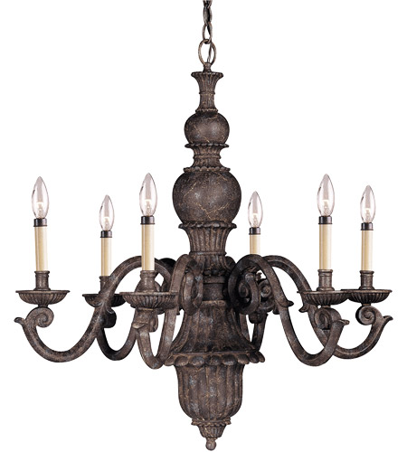 Savoy House Tuscan Iron 6 Light Chandelier in Rustic Bronze 127-6-72 photo