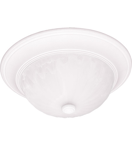Savoy House 13264-80 Signature 2 Light 13 inch Matte White Flush Mount Ceiling Light in Ribbed Marble photo