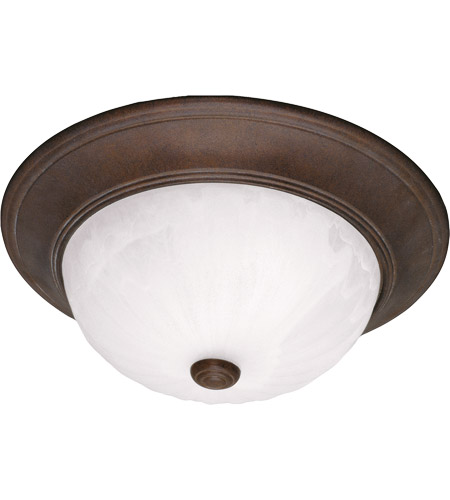 Savoy House 15264-BN Signature 3 Light 15 inch Brownstone Flush Mount Ceiling Light in Ribbed Marble photo