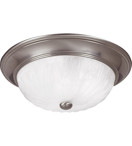 Savoy House 15264-SN Signature 3 Light 15 inch Satin Nickel Flush Mount Ceiling Light in Ribbed Marble photo