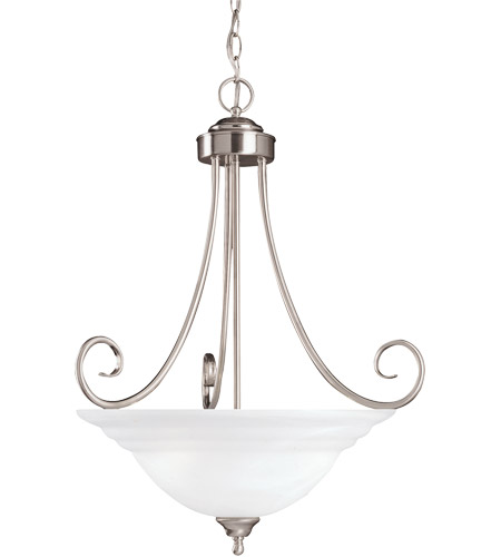 Savoy House Adirondack 3 Light Pendant in Satin Nickel 167-3-SN photo