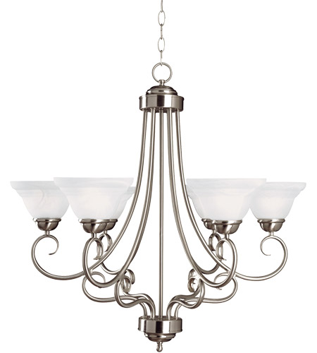 Savoy House Adirondack 6 Light Chandelier in Satin Nickel 169-6-SN photo