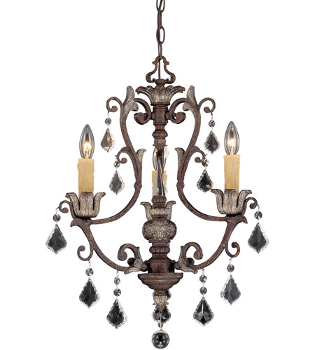 Savoy House 1P-1550-3-8 Elizabeth 3 Light 19 inch New Tortoise Shell with Silver Chandelier Ceiling Light photo
