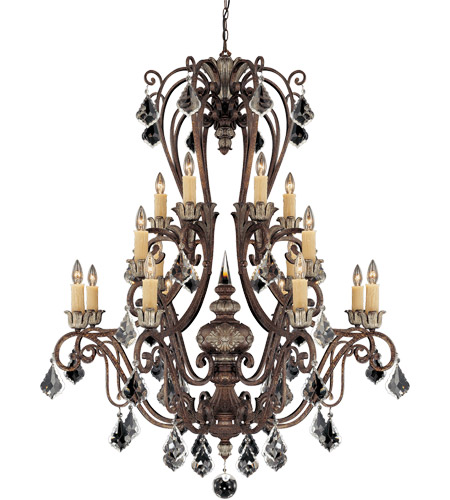 Savoy House 1P-1553-16-8 Elizabeth 16 Light 43 inch New Tortoise Shell with Silver Chandelier Ceiling Light photo