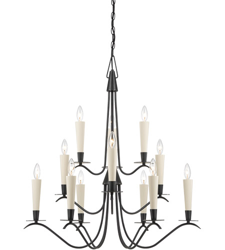 Savoy House Plymouth 12 Light Chandelier in Aged Iron 1P-5483-12-55 photo