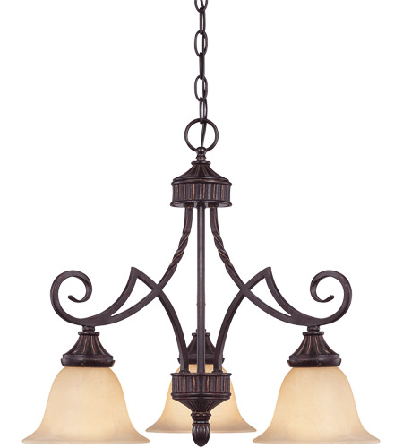 Savoy House PPP Legend  3 Lt Down Chandelier 1P-5589-3-16