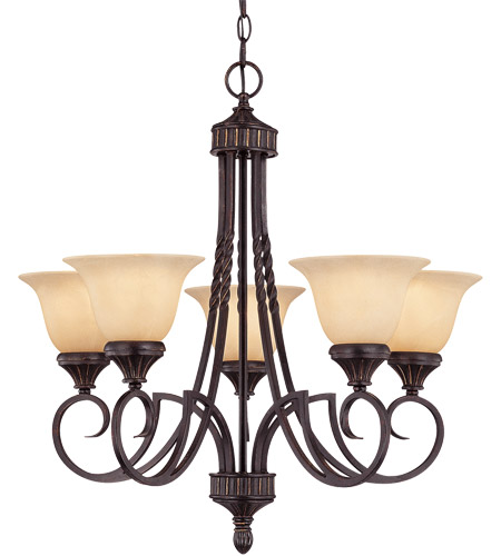 Savoy House PPP Legend  5 Lt Chandelier 1P-5590-5-16