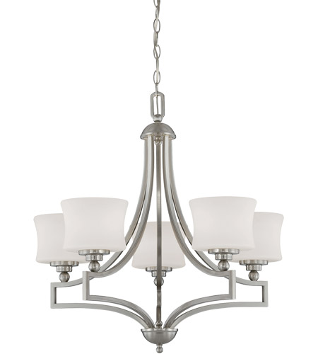 Savoy House 1P-7210-5-SN Terrell 5 Light 26 inch Satin Nickel Chandelier Ceiling Light photo thumbnail