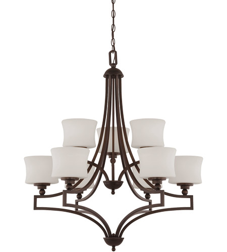 Savoy House Terrell 9 Light Chandelier in English Bronze 1P-7211-9-13