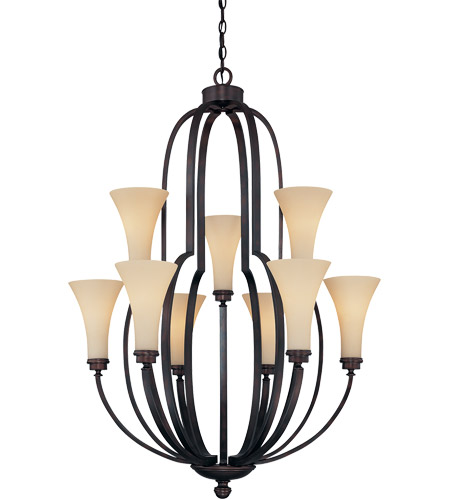 Savoy House Marcelina 9 Light Chandelier in English Bronze 1P-961-9-13 photo