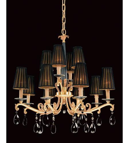 Savoy House European Louis Xvi 12 Light Chandelier In Black Gold 2 553 48