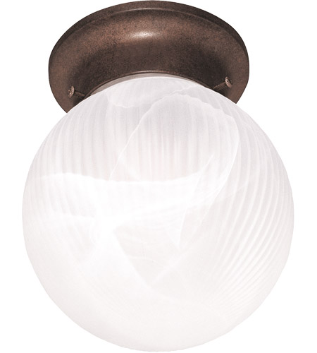 Savoy House Signature 1 Light Flush Mount in Brownstone 266-BN photo