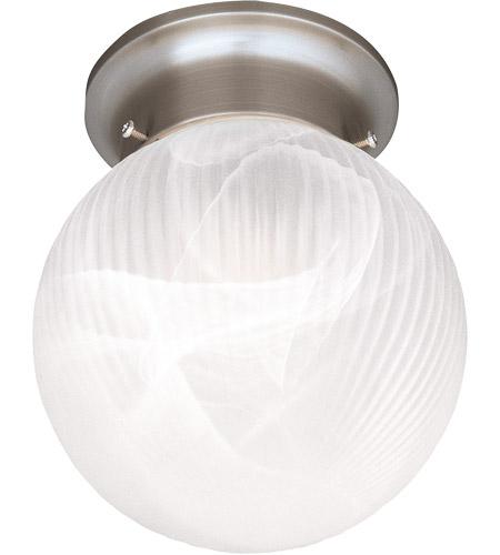 Savoy House Signature 1 Light Flush Mount in Satin Nickel 266-SN