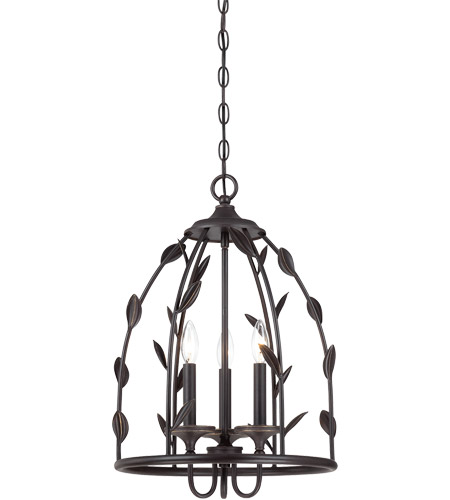 Savoy House Euclid 3 Light Foyer in Forged Black 3-1100-3-17 photo