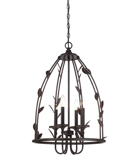 Savoy House Euclid 4 Light Foyer in Forged Black 3-1101-4-17 photo