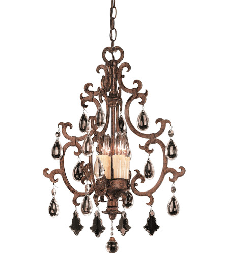 Savoy House 3-1405-4-56 Florence 4 Light 17 inch New Tortoise Shell Foyer Ceiling Light, Open photo
