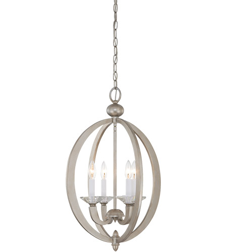 Savoy House 3-1552-4-307 Forum 4 Light 17 inch Silver Sparkle Foyer Ceiling Light photo