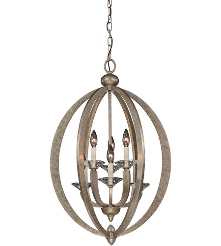 Savoy House Forum 6 Light Foyer Pendant in Gold Dust 3-1553-6-122