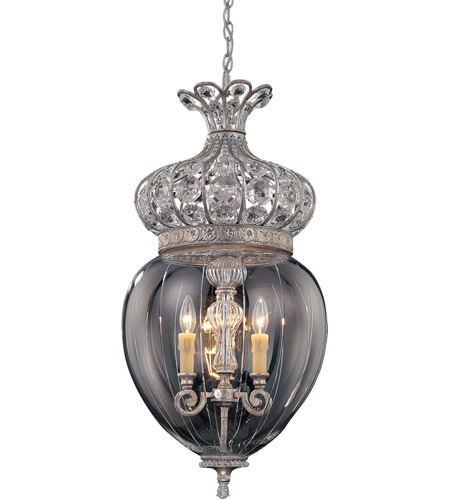 Savoy House Josephine  3 Light Foyer Pendant in Silver Lace 3-1625-3-176
