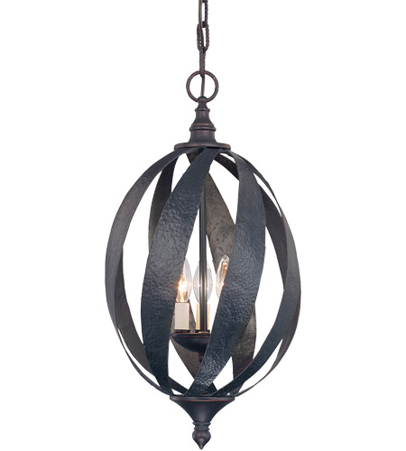 Savoy House 3-225-3-25 Carmel 3 Light 12 inch Slate Foyer Ceiling Light, Open photo
