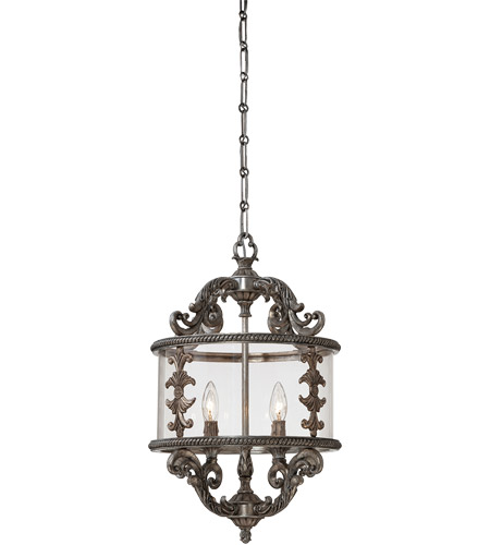 Savoy House Athena 4 Light Foyer in Silver Lace 3-2501-4-176