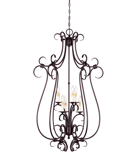 Savoy House Brandywine 6 Light Foyer Pendant in New Tortoise Shell 3-2899-6-56 photo