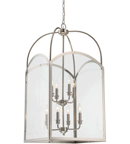 Savoy House 3-3057-8-109 Garrett 8 Light 18 inch Polished Nickel Foyer Light Ceiling Light photo thumbnail