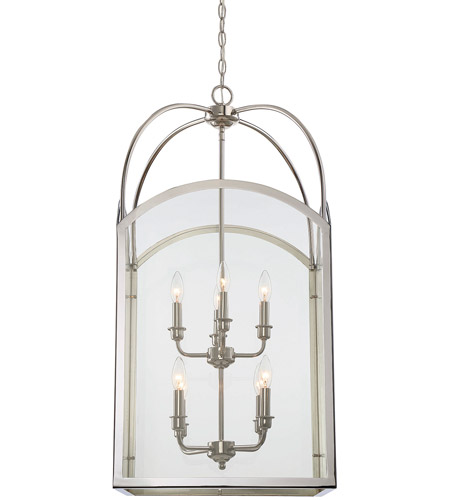 Savoy House 3-3057-8-109 Garrett 8 Light 18 inch Polished Nickel Foyer Light Ceiling Light alternative photo thumbnail