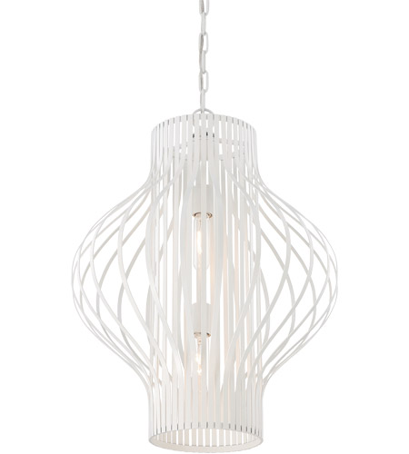 Savoy House Capra 2 Light Pendant in White 3-312-2-80