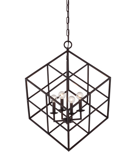 Savoy House Halston 4 Light Pendant in English Bronze 3-313-4-13