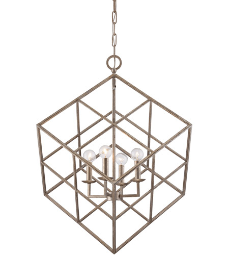 Savoy House Halston 4 Light Pendant in Argentum 3-313-4-211