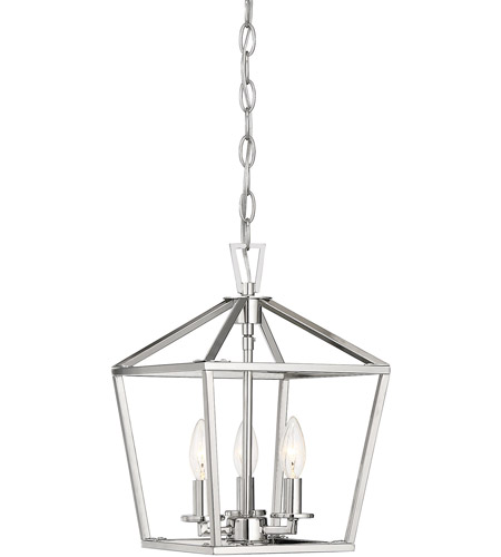 Savoy House 3-320-3-109 Townsend 3 Light 10 inch Polished Nickel Foyer Light Ceiling Light photo