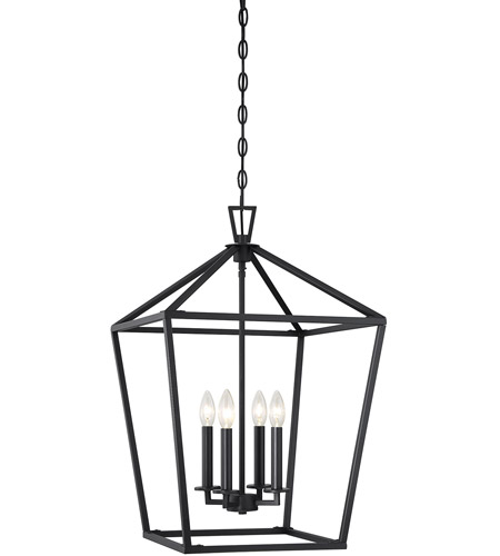 Savoy House 3-321-4-89 Townsend 4 Light 17 inch Matte Black Foyer Light Ceiling Light photo