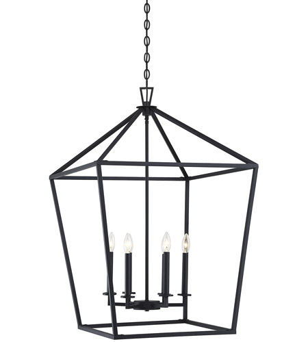 Savoy House 3-322-6-89 Townsend 6 Light 24 inch Matte Black Foyer Light Ceiling Light photo