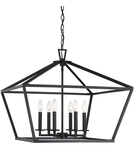Savoy House 3-325-6-89 Townsend 6 Light 26 inch Matte Black Foyer Light Ceiling Light photo