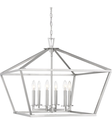 Savoy House 3-325-6-SN Townsend 6 Light 26 inch Satin Nickel Foyer Light Ceiling Light photo