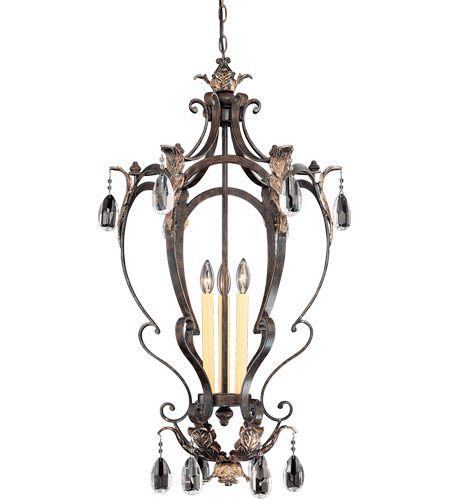 Savoy House Hensley 3 Light Foyer Pendant in Fiesta Bronze 3-4056-3-124 photo