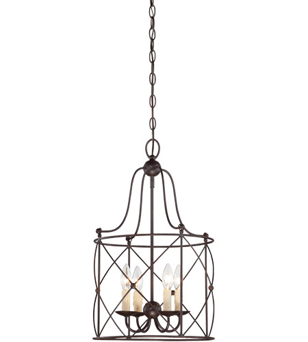 Savoy House 3-4070-4-13 Seneca 4 Light 14 inch English Bronze Foyer Light Ceiling Light photo